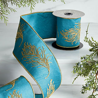 Peacock Embroidery Ribbon