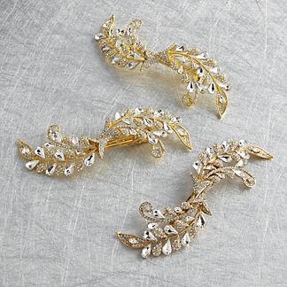 Jeweled Scroll Tree Clip