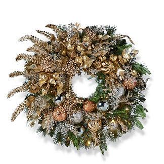 Gilded Radiance Wreath
