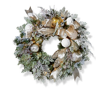 Frosted Nights Indoor Wreath