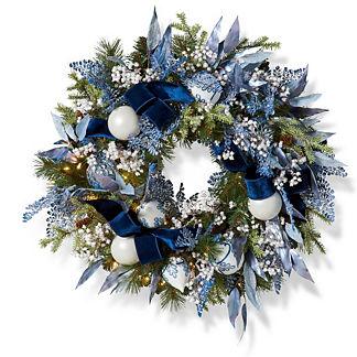 Noel Bleu Wreath