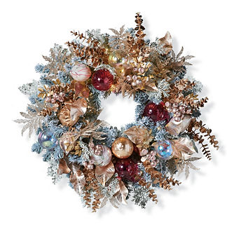 Champagne Holiday Wreath