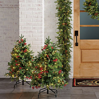 Christmas Cheer 3 ft. Pathway Trees, Set of Two