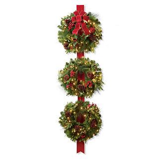 Christmas Cheer Ribbon Wreath Trio