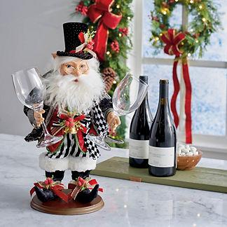 Mark Roberts Elf with Wine Glasses