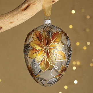 Gilded Radiance Jeweled Ornament