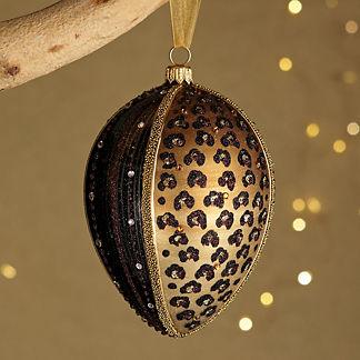 Leopard Jeweled Ornament