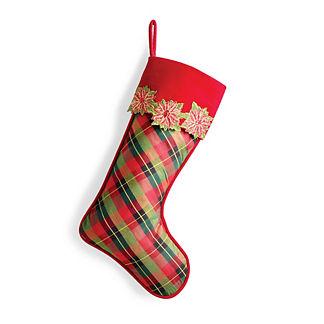 A Wonderful Christmas Poinsettia Stocking
