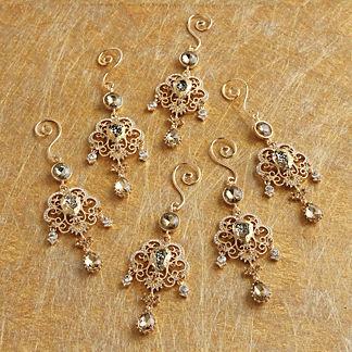 Regal Pave Stone Drop Ornament Set