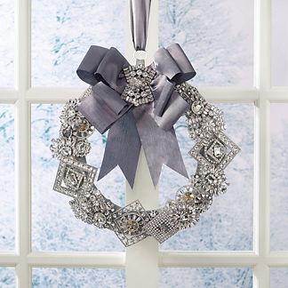 Rhinestone Crystal and Gem Luxe Wreath