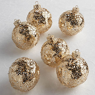 Filigree Ornaments, Set of Six