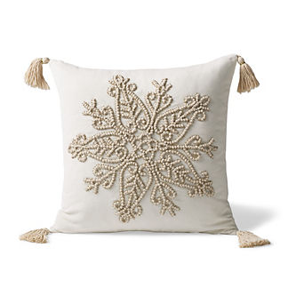 Courcheval Embroidered Decorative Pillow Cover