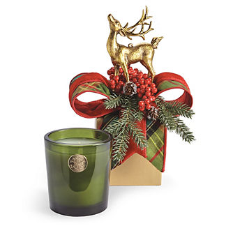 Lux 14oz Candle in Holiday Gift Box Nobel Fir