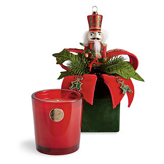 Lux 14oz Candle in Holiday Gift Box Nutcracker