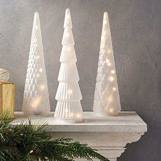 Frosted LED Glass Trees
