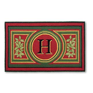 Wingate Festive Monogrammed Door Mat