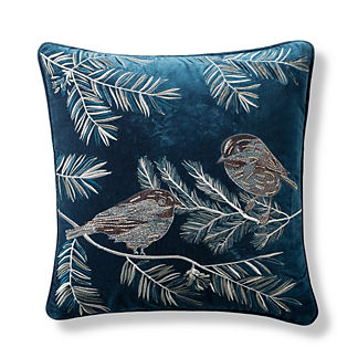 Frosty Feathers Decorative Pillow Cover