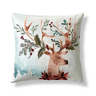 Oh Deer Velvet Decorative Pillow Cover