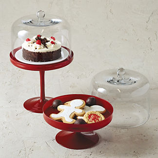 Colette Cake Stands in Red