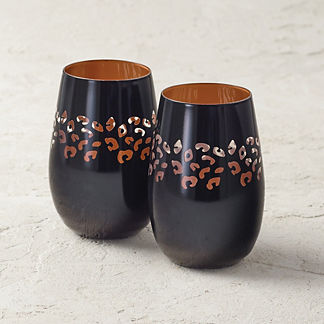 Cheetah Stemless Tumblers, Set of Two