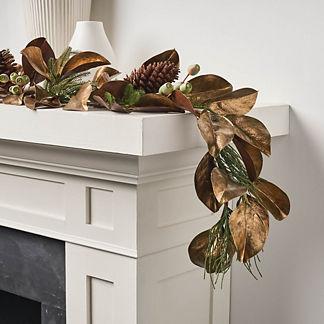 Metallic Magnolia Flexible Garland