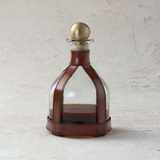 Eponine Leather Office Decanter