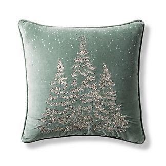 Snow Valley Velvet Decorative Pillow Cover