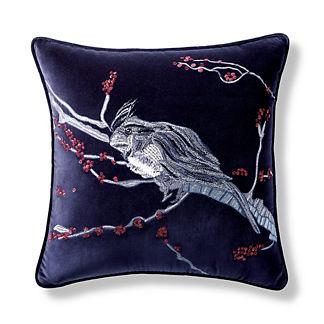 Winter Jay Velvet Decorative Pillow Cover