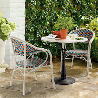 Lacina Bistro Set with Harper Arm Chairs