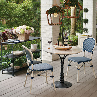 Lacina Bistro Set with Harper Side Chairs