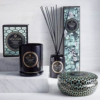 Voluspa French Linen Candle and Diffuser Collection