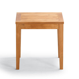 Cassara Square Side Table in Natural Finish