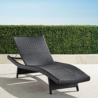 Original Balencia Black Chaise Lounges, Set of Two