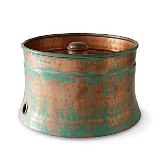 Patina Copper Hose Pot