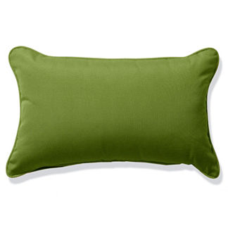 Outdoor Lumbar Pillow in Sunbrella Gingko