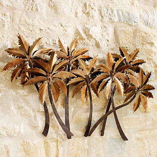 San Marco Palms Outdoor Wall Sculpture