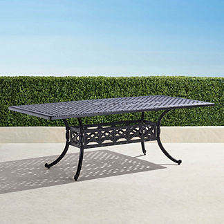 Carlisle Rectangular Cast-top Dining Table in Onyx Finish