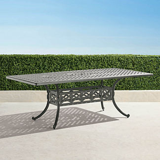 Carlisle Rectangular Cast-top Dining Table in Slate Finish
