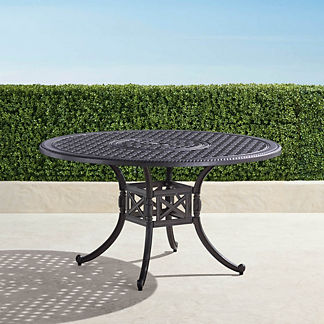 Carlisle Round Cast-top Dining Table in Onyx Finish