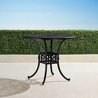 Carlisle Round Cast-top Bar Table in Onyx Finish
