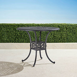 Carlisle Round Cast-top Bar Table in Slate Finish