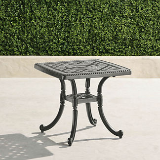 Carlisle Cast-top Tables in Slate Finish