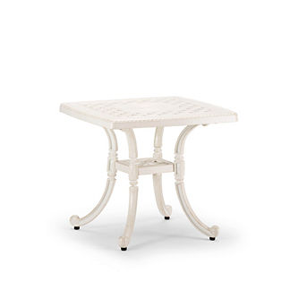 Carlisle Cast-top Side Table in Parisian Ivory Finish