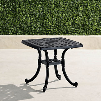 Cast Aluminum Outdoor Side Table Frontgate
