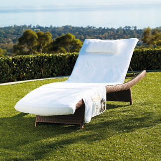 Balencia Velour Chaise Cover