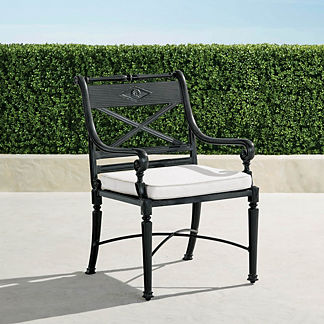 Carlisle Dining Arm Chairs in Onyx Finish, Set of Two