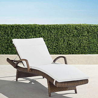 Balencia Chaise Lounges with Arms, Set of Two