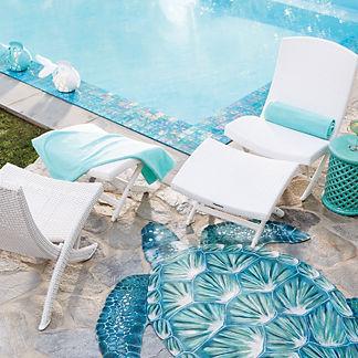 Balencia White Folding Chair