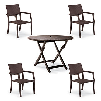 Cafe 5-pc. Square Back Chairs and Table Set
