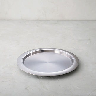 Hot/Cold 14-in. Round Stainless Steel Tray